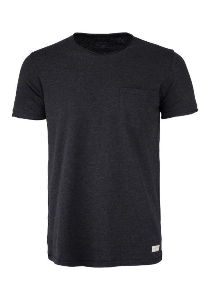 Pacific City Heren Antraciet T-shirt Zonder Opdruk