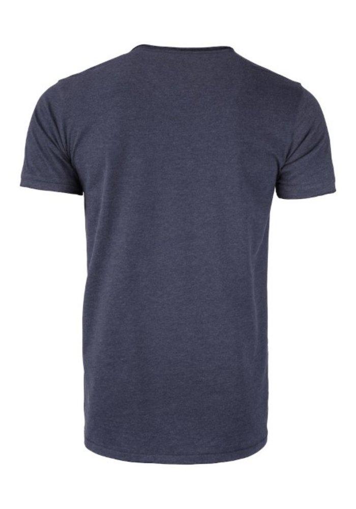 Pacific City Heren Denim T-shirt Met Opdruk