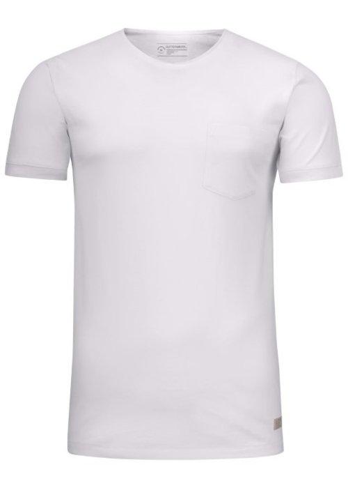 Cutter & Buck Pacific City Heren Wit T-shirt Zonder Opdruk