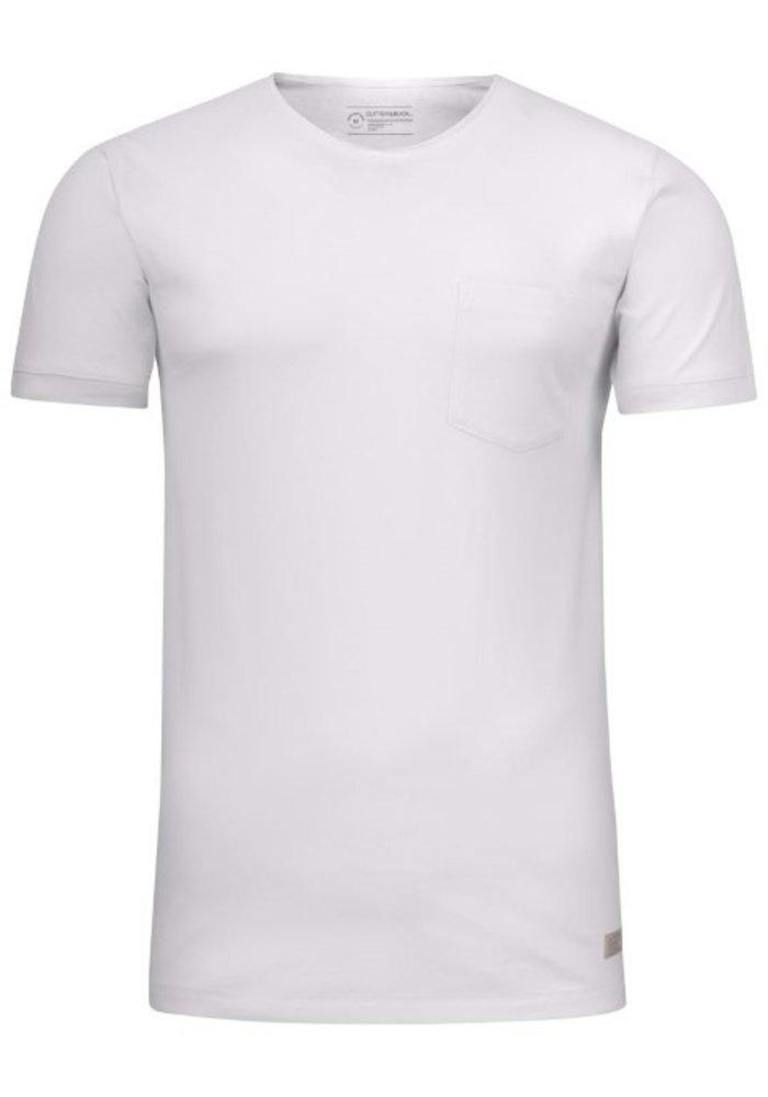 Pacific City Heren Wit T-shirt Zonder Opdruk
