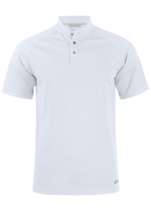 Cutter & Buck Advantage Stand-Up Collar Polo Wit