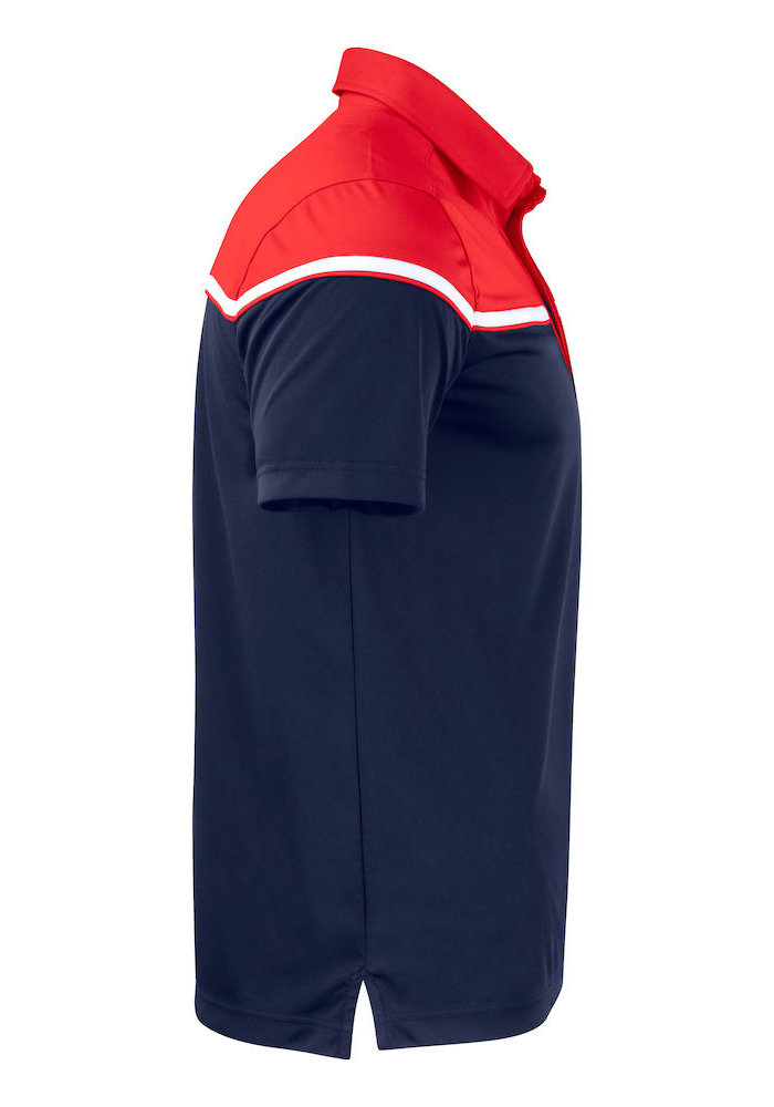 Seabeck Heren Polo Navy/Rood