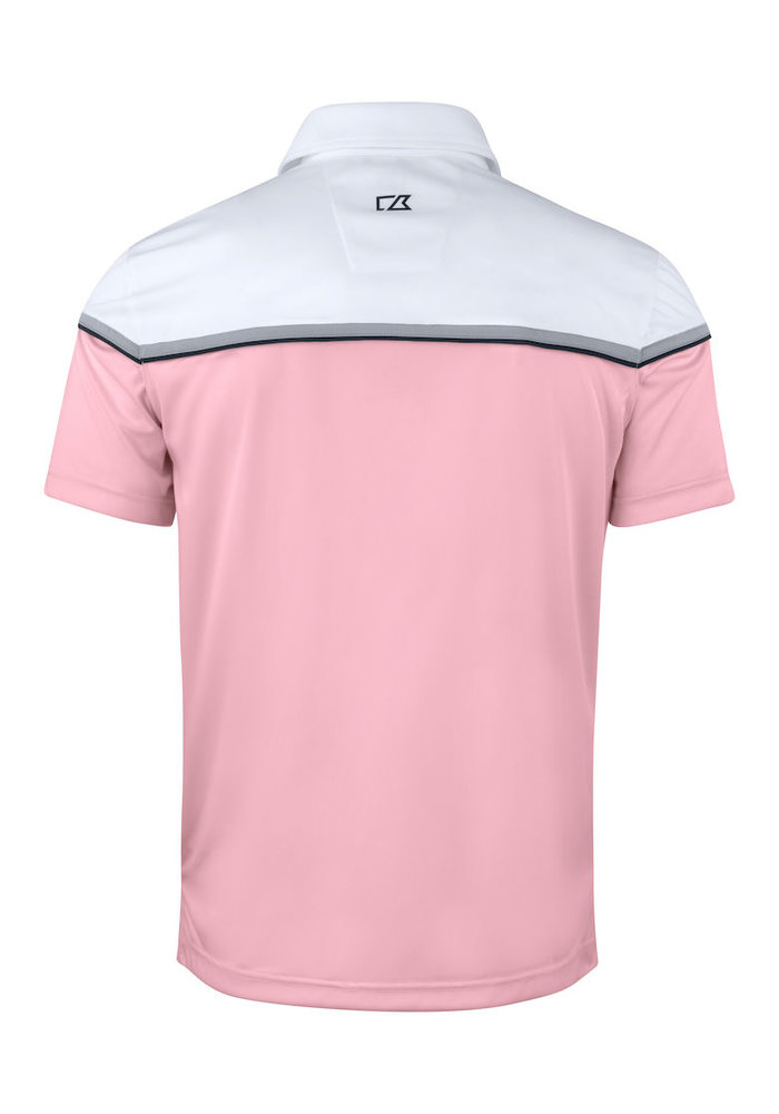 Seabeck Heren Polo Roze/Wit