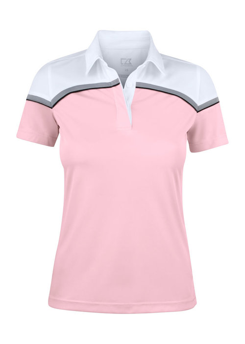 Cutter & Buck Seabeck Dames Polo Roze/Wit