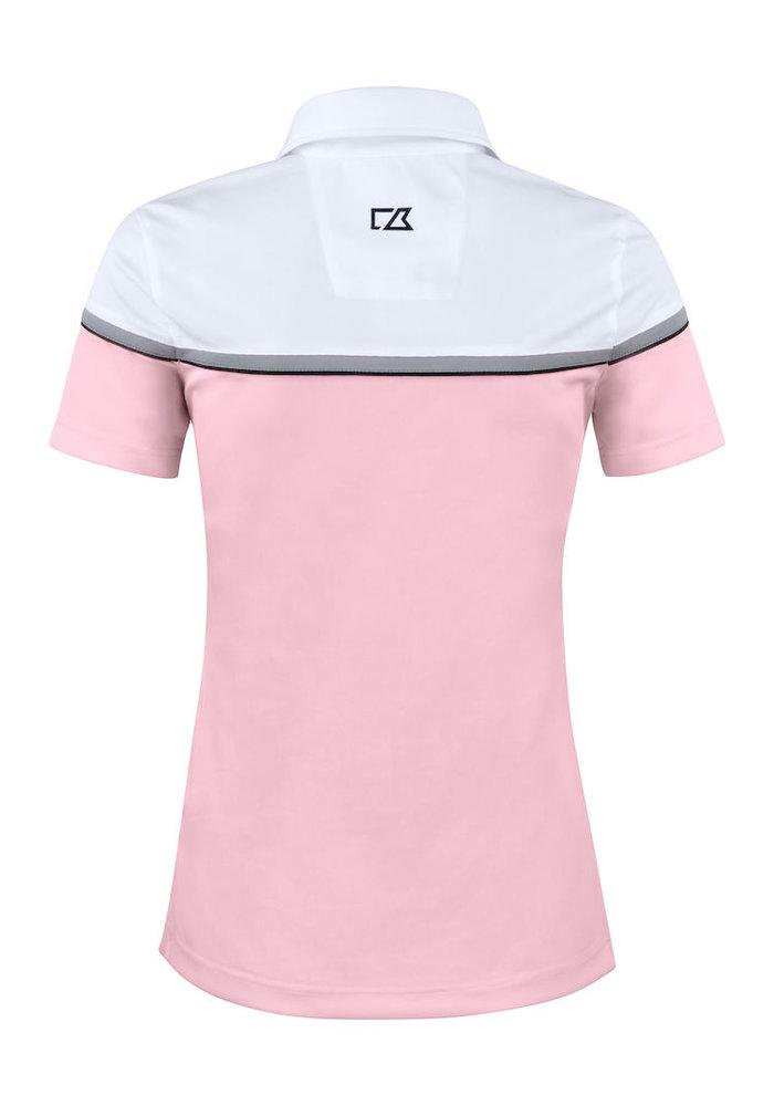 Seabeck Dames Polo Roze/Wit