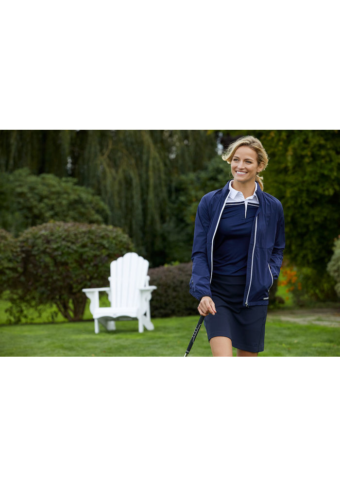 Seabeck Dames Polo Navy/Wit