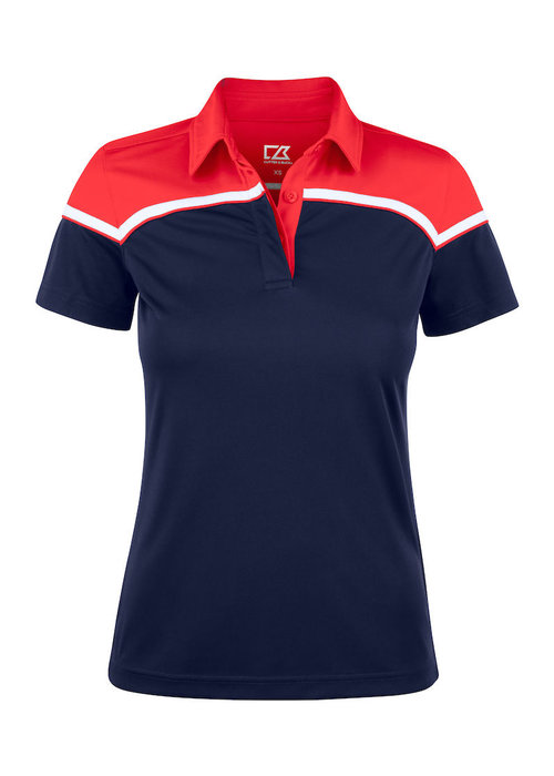 Cutter & Buck Seabeck Dames Polo Navy/Rood