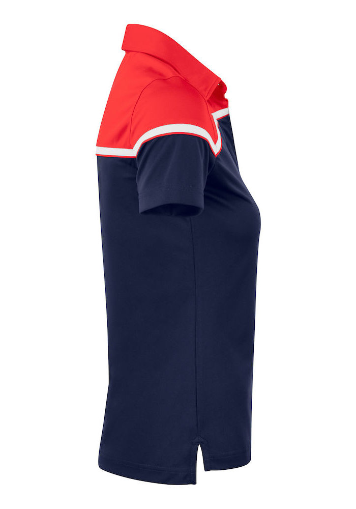 Seabeck Dames Polo Navy/Rood