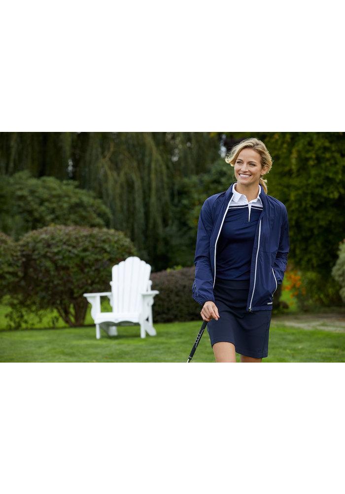 Seabeck Dames Polo Zwart/Grijs