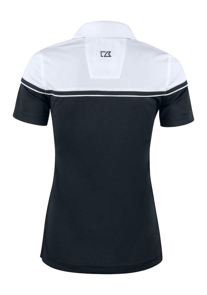 Seabeck Dames Polo Zwart/Wit