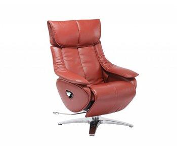 Rode Leren Relaxstoel.Leren Stoel Sedersi