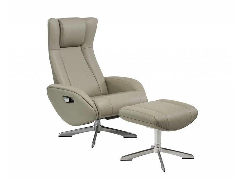 Luie Stoel Leer : Crème lederen luie jongen fauteuil stoel decoro leren bank