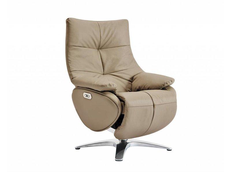Relaxfauteuil Leder Elektrisch.Alpha 158d Elektrische Relaxfauteuil In Leder Lederlook Nomad Sedersi