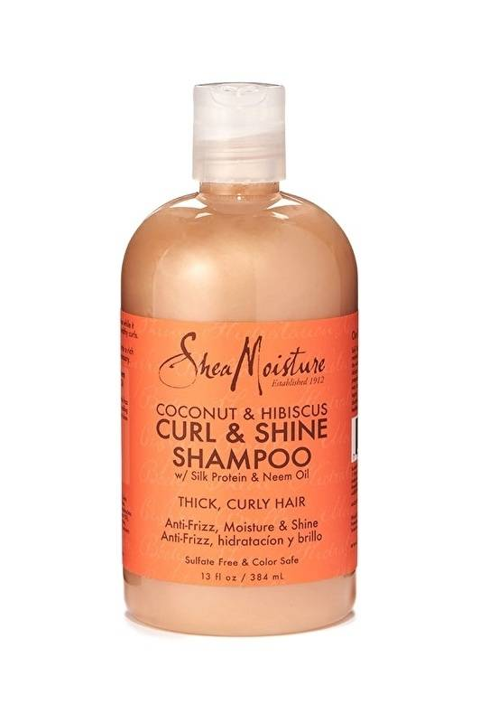 Shea Moisture Coconut & Hibiscus CURL & SHINE Shampoo (384ml)