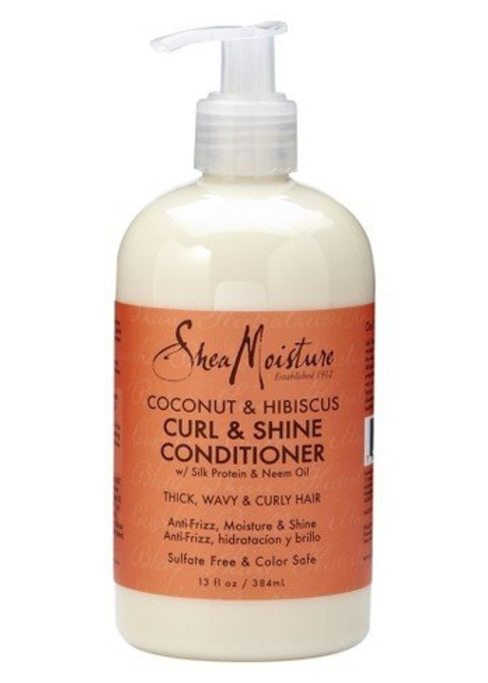 Shea Moisture Coconut & Hibiscus CURL & SHINE Conditioner (384ml)