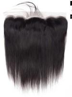 100% Virgin Hair Frontal (Steil)14 inch