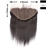 100% Virgin Hair Frontal (Steil) 14 inch