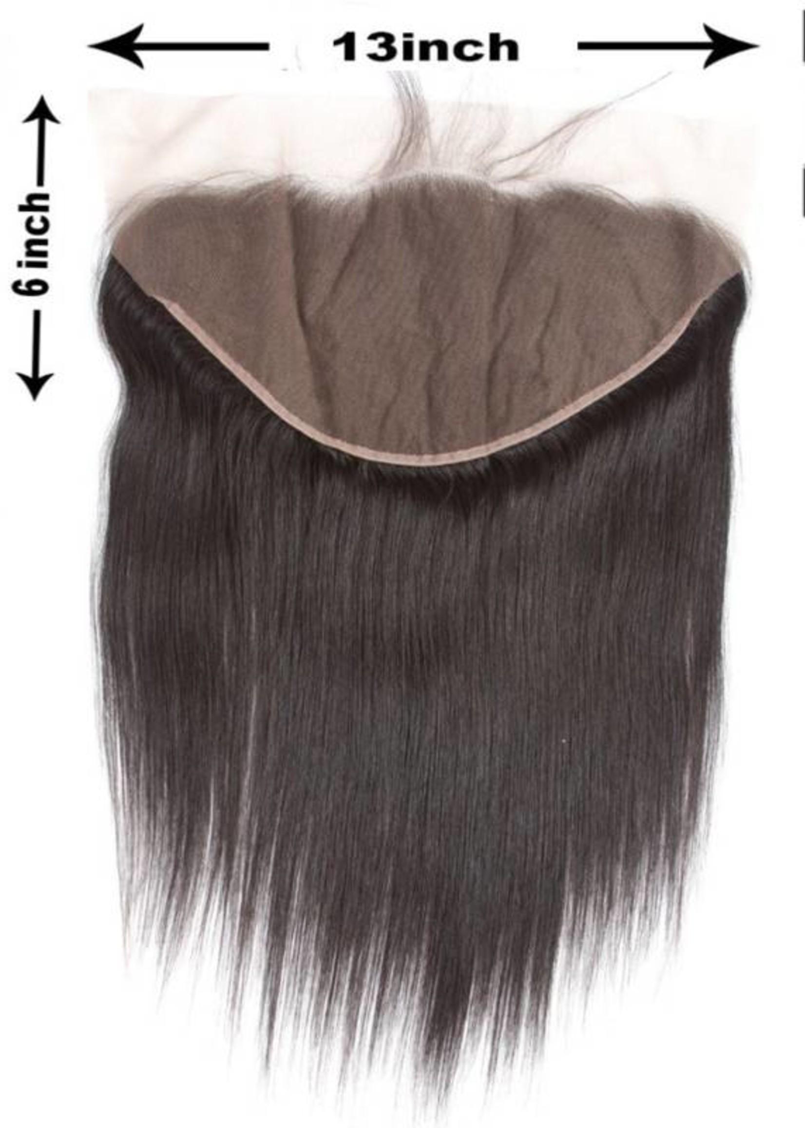 100% Virgin Hair Frontal (Steil) 14 inch