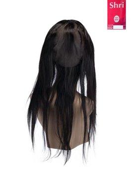 SHRI Indian (Shri) Human Hair 360º Frontal met Cap, 14 inch (Steil)