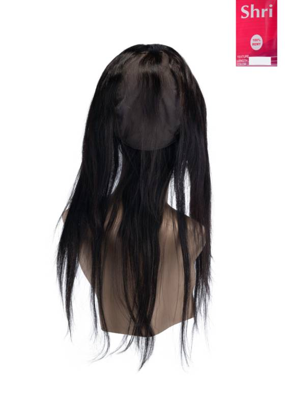 SHRI Indian (Shri) Human Hair 360º Frontal met Cap, 14 inch (Steil)