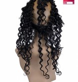 SHRI Indian (Shri) Human Hair 360º Frontal zonder Cap, 14 inch (Deep Wave)