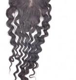 100% Virgin Hair Closure, 14 inch (Deep Wave)