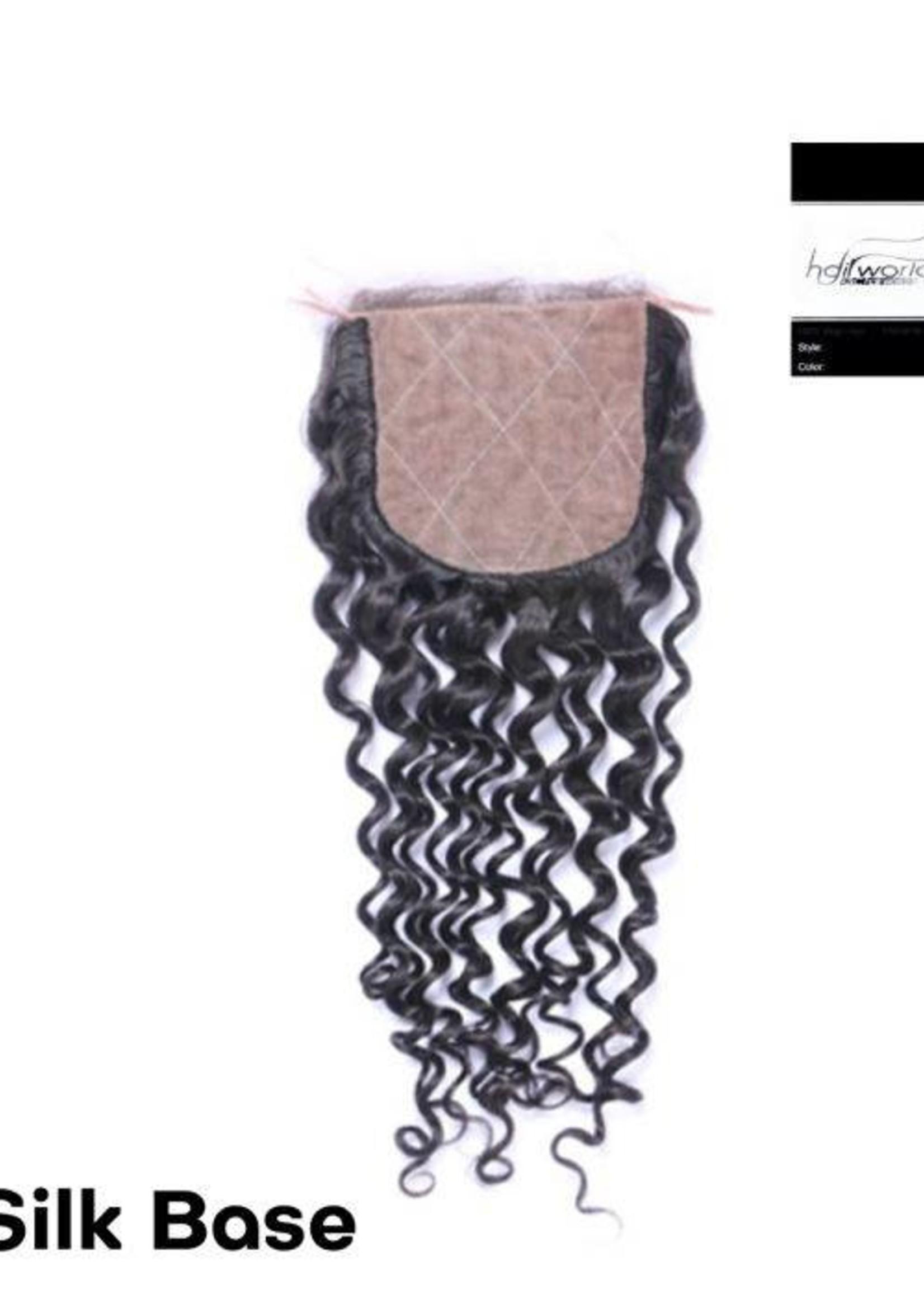 100% Virgin Hair Closure, 14inch (Jerry Curl)