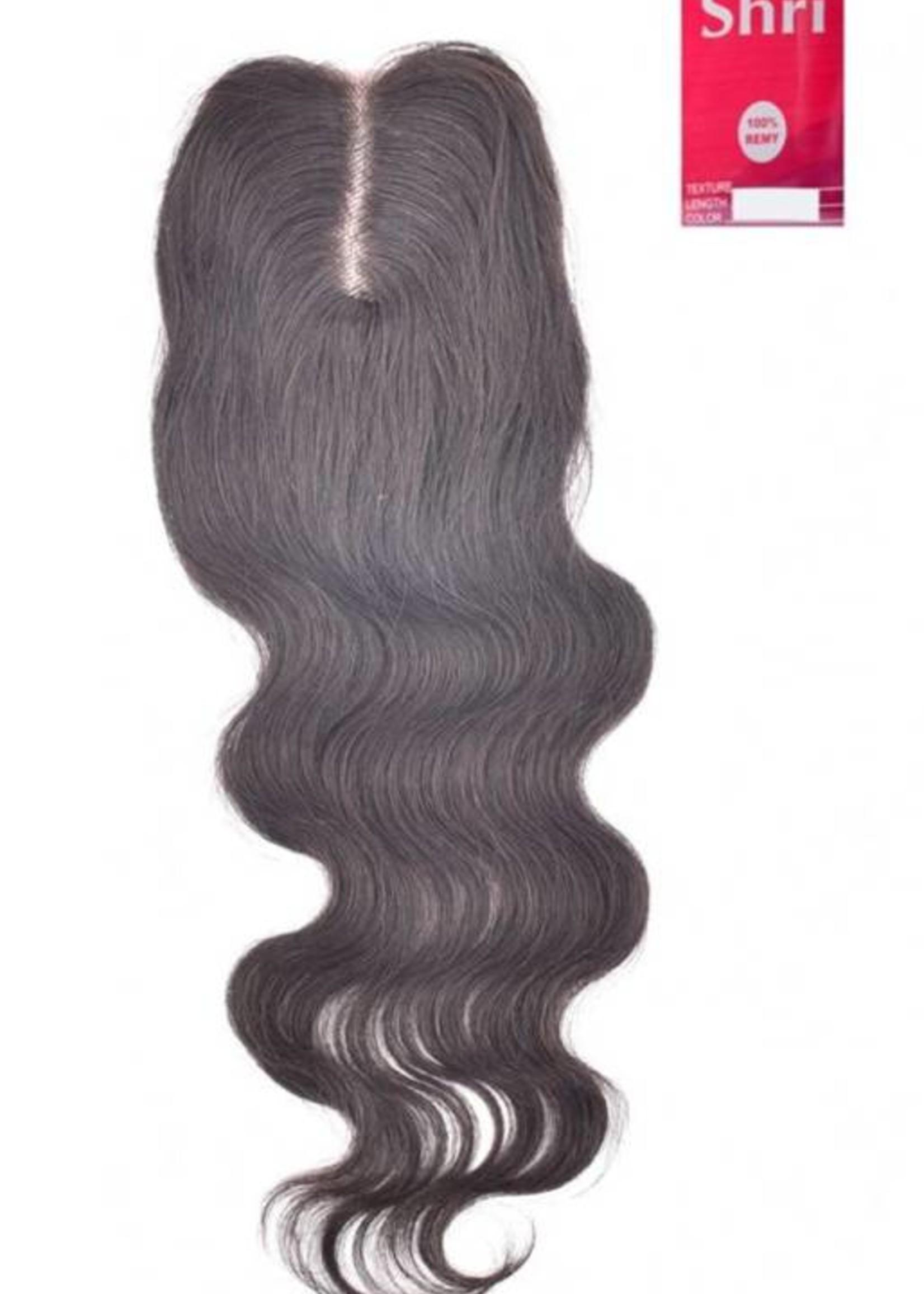 SHRI Indian (Shri) Human Hair Closure, 14 inch (Body Wave)