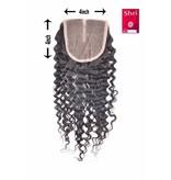 SHRI Indian (Shri) Human Hair Closure, 14 inch (Jerry Curl)