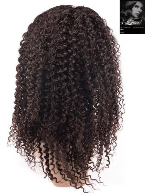 100% Virgin Front Lace Wig (Jerry Curl)