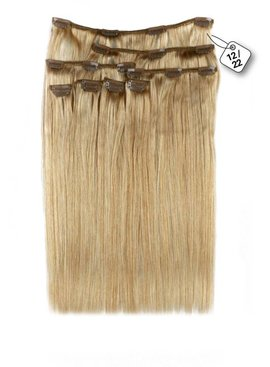 Clip in Extensions (Steil), kleur#12/22,  Ash Blonde/ Hollywood Blonde