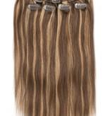 Clip in Extensions (Steil), kleur #4/27, Chocolate Brown/ Dark Blonde
