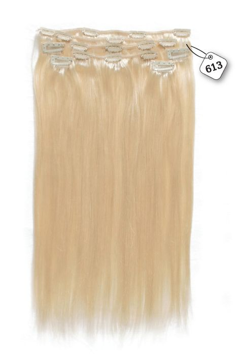 Clip in Extensions (Steil), kleur #613, Light Blonde