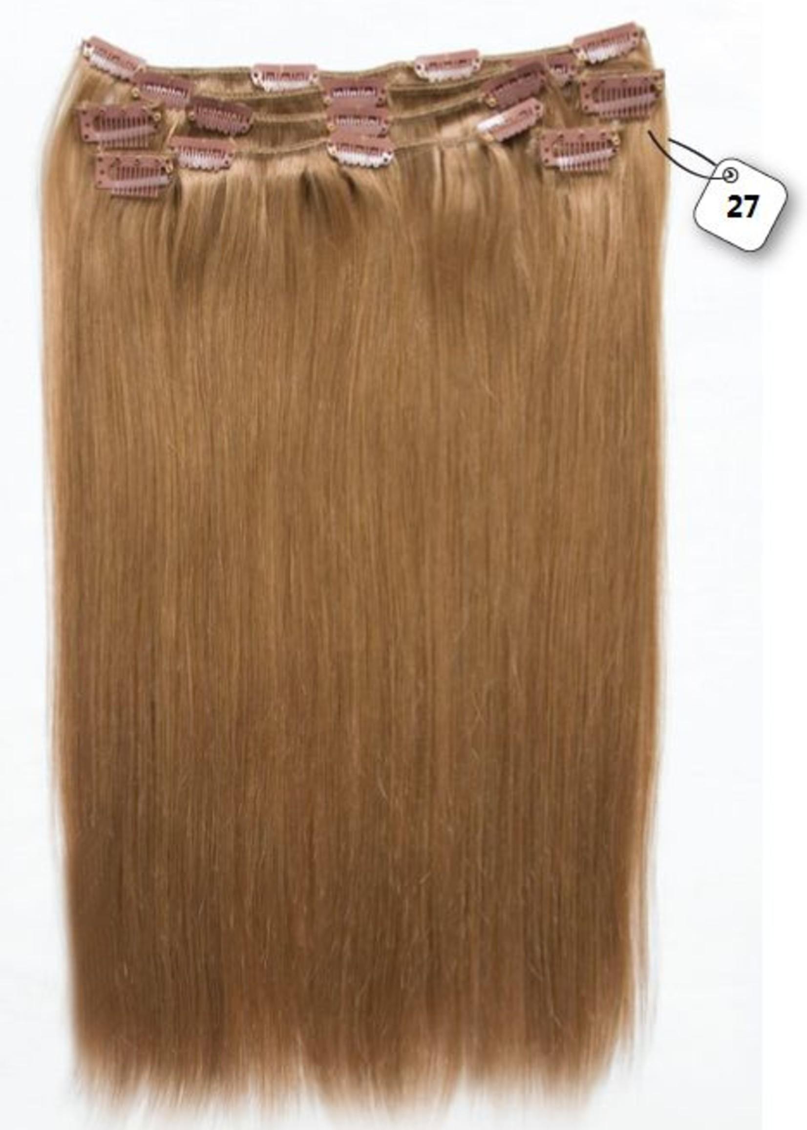 Clip in Extensions (Steil), kleur #27 Dark Blonde