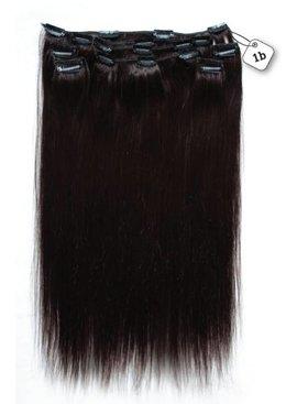 Clip in Extensions (Steil), kleur #1B Natural Black