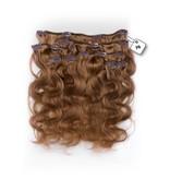Clip in Extensions (Body Wave), kleur #F6 Chestnut Brown