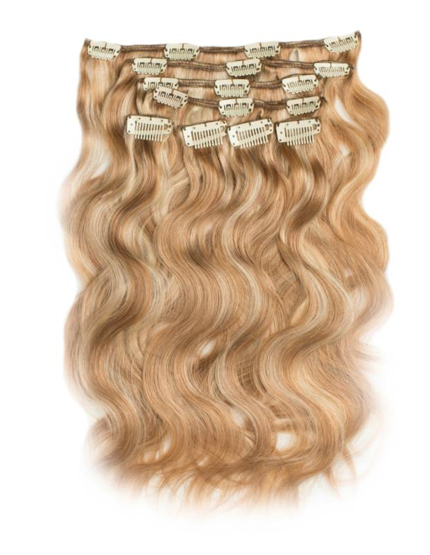 Clip in Extensions (Body Wave), kleur #27/613 Dark Blonde/ Light Blonde