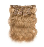 Clip in Extensions (Body Wave), kleur #27 Dark Blonde