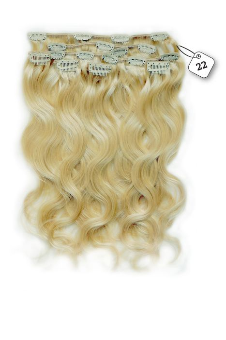 Clip in Extensions (Body Wave), kleur #22, Hollywood Blonde