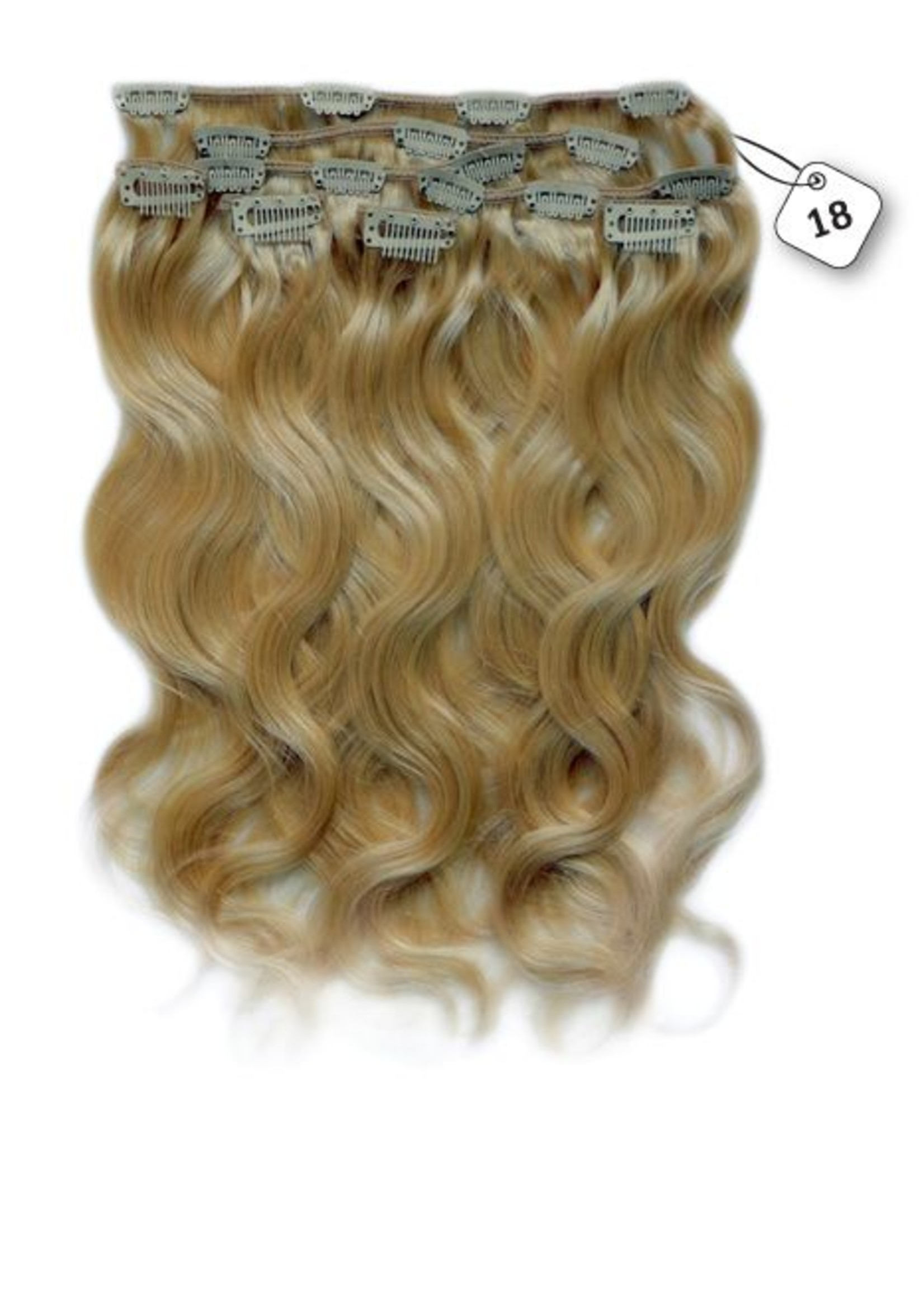Clip in Extensions (Body Wave), kleur #18 Strawberry Blonde