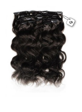 Clip in Extensions (Body Wave), kleur #1B Natural Black