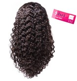SHRI Indian (Shri) Human Hair Front Lace Wig (Deep Wave)