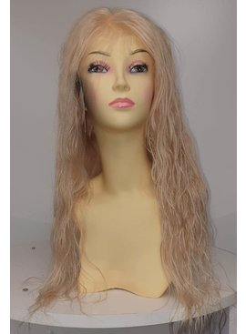 Human Hair Front Lace Wig -  Blond