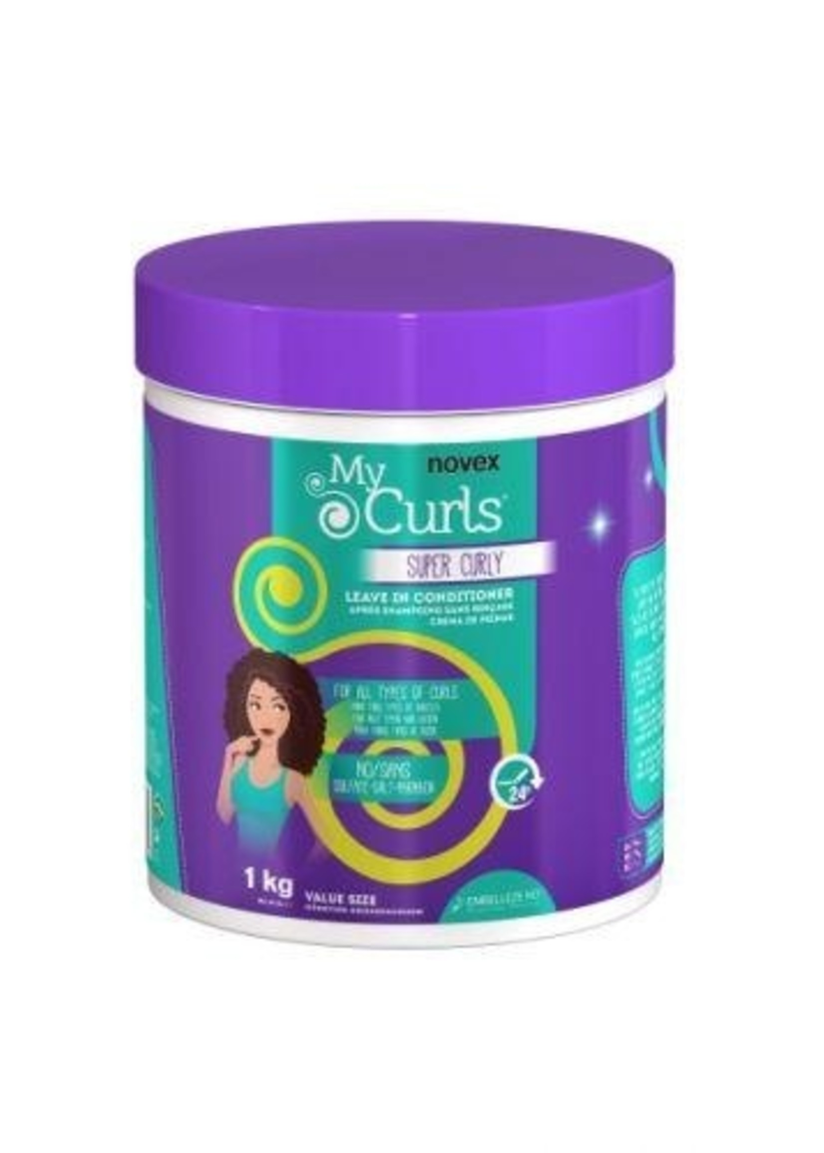 Novex NOVEX - MY CURLS SUPER CURLY LEAVE IN CONDITIONER 35OZ (VALUE SIZE)