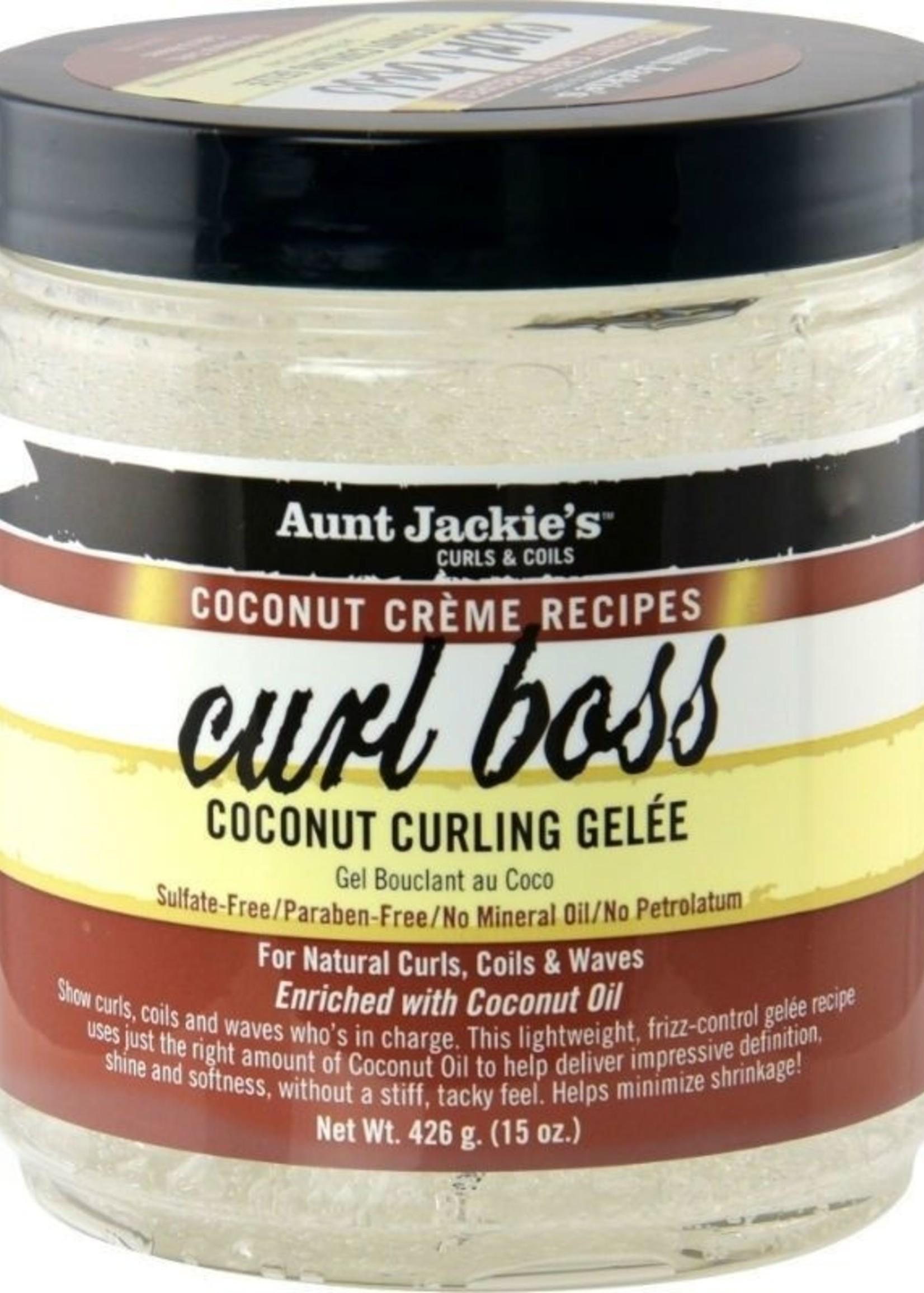 Aunt Jackie's Curls & Coils AUNT JACKIE'S - COCONUT CREME RECIPES CURL BOSS COCONUT CURLING GÉLEE 443ML
