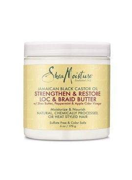 Shea Moisture SHEA MOISTURE -JAMAICAN BLACK CASTOR OIL STRENGTHEN & GROW LOC & BRAID BUTTER 6OZ