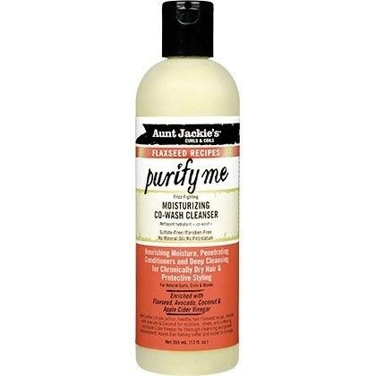 Aunt Jackie's Curls & Coils AUNT JACKIE'S FLAXSEED PURIFY ME CO-WASH 12 OZ