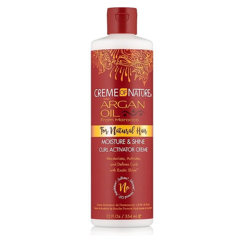 Creme of Nature  CREME OF NATURE ARGAN OIL FOR NATURAL HAIR MOISTURE & SHINE CURL ACTIVATOR CREME 354ML