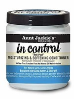 Aunt Jackie's Curls & Coils AUNT JACKIE'S CURLS & COILS – IN CONTROL ANTI-POOF MOISTURIZING & SOFTENING CONDITIONER 15OZ