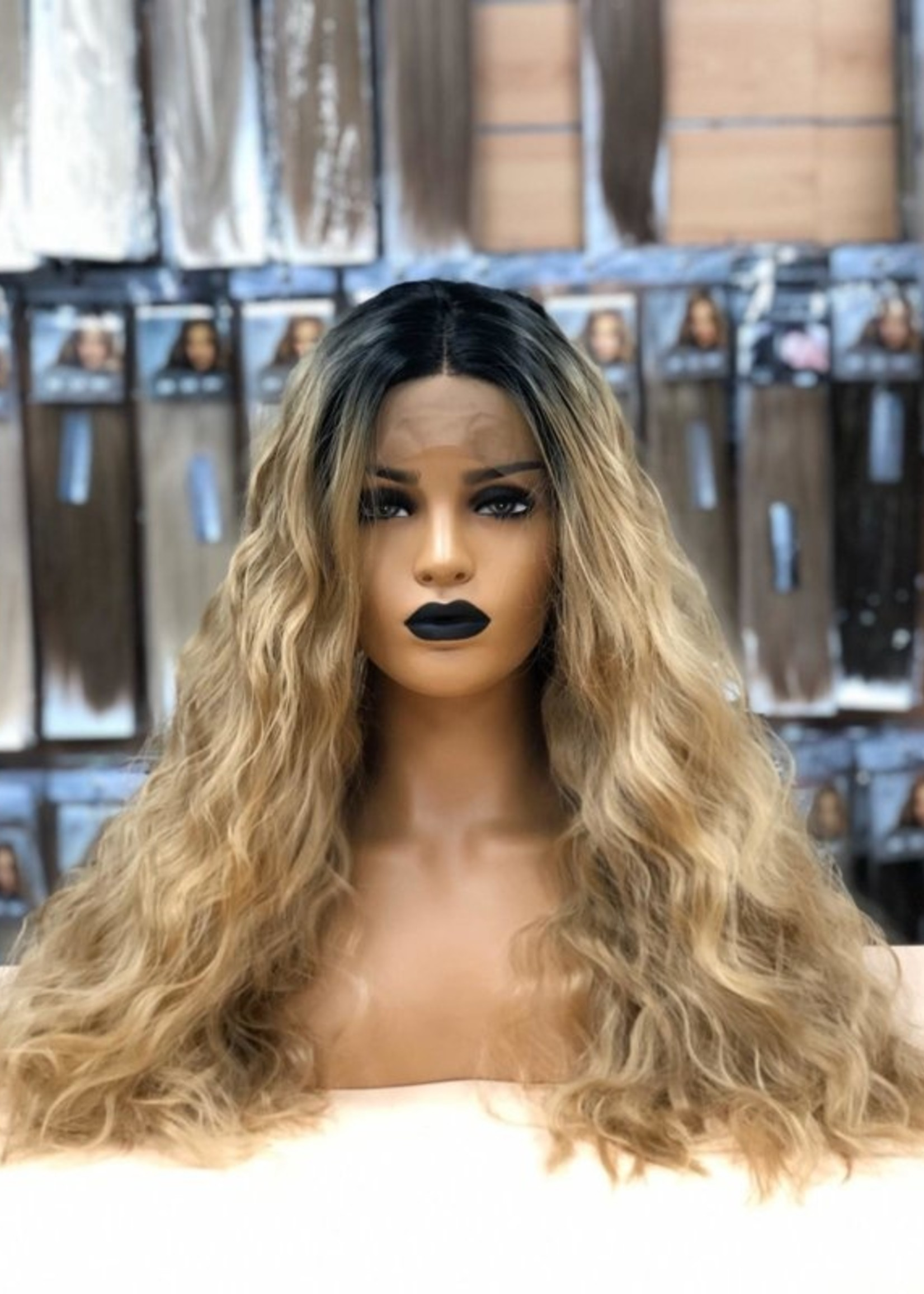 Synthetische Lace Wig Roots /Caramel - Beyonce
